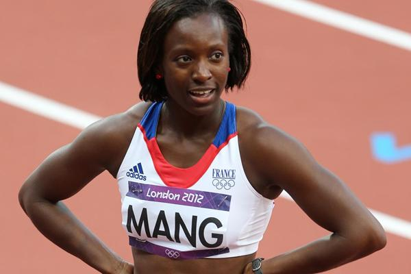 Veronique Mang of France competes in the Women's 100m Round 1 Heats on Day 7 of the London 2012 Olympic Games at Olympic Stadium on August 3, 2012  (Getty Images)
