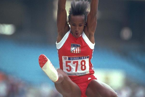 Jackie Joyner-Kersee in Seoul - 1988 Olympic gold in the Long Jump and Heptathlon (Getty Images)