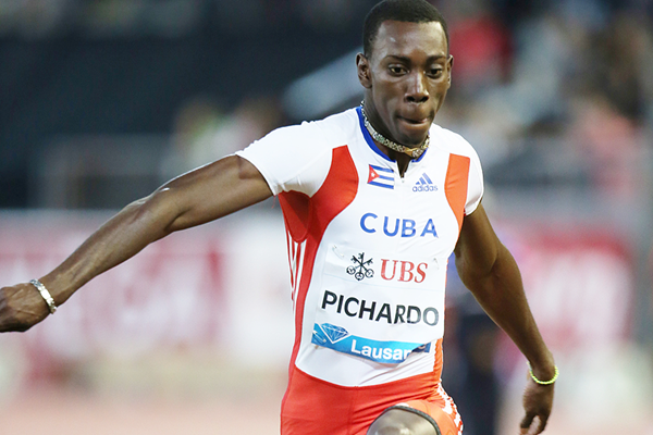 Pedro Pablo Pichardo at the IAAF Diamond League meeting in Lausanne (Gladys von der Laage)