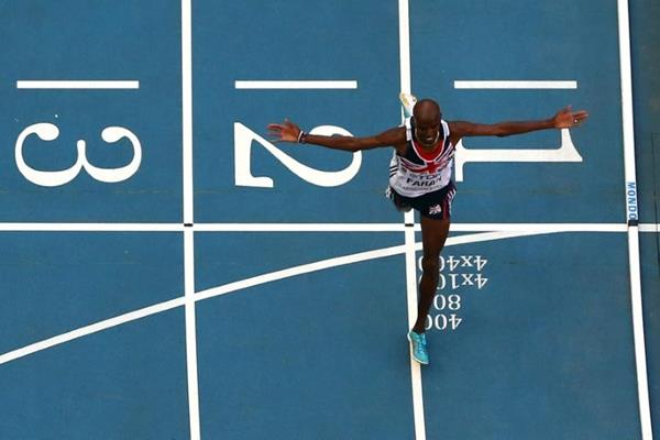 Mo Farah wins the 10,000m at the IAAF World Athletics Championships Moscow 2013 (Getty Images)