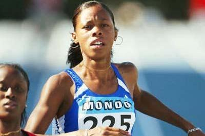 Lina Jacques-Sebastian of France during the 100m semi final in Grosseto (Getty Images)