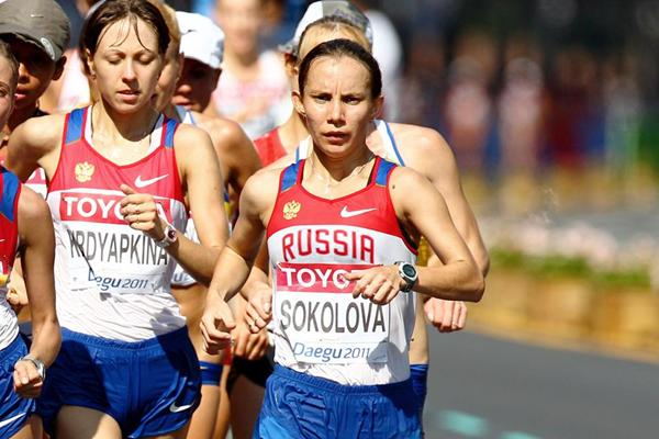 Russian race walker Vera Sokolova (Getty Images)