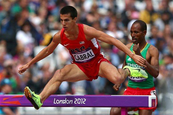 Donald Cabral of the United States competes in the Men's 3000m Steeplechase Heats on Day 7 of the London 2012 Olympic Games at Olympic Stadium on August 3, 2012 (Getty Images)