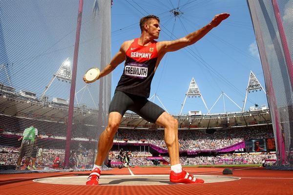 Discus Throw Olympics Decathlon Discus Throw on
