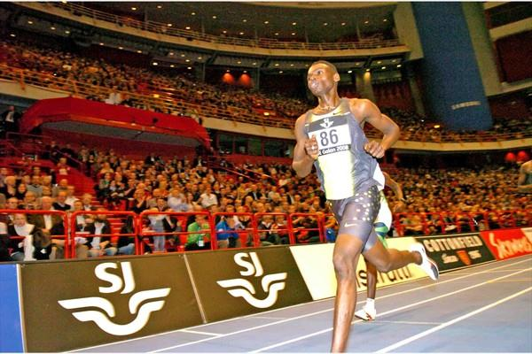 Abubaker Kaki (SUD) 2:15.77 for 1000m at GE Galan in 2008 (Hasse Sjögren)