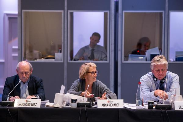IAAF council member Anna Riccardi at the 2014 IAAF Council Meeting in Monaco (Philippe Fitte / IAAF)