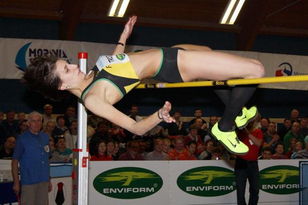 Alessia Trost jumps 2.00m in Trinec (Organisers)