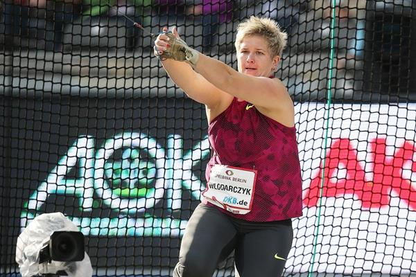 Anita Wlodarcyzk in action at the 2014 ISTAF Berlin meeting (Glady von der Laage)