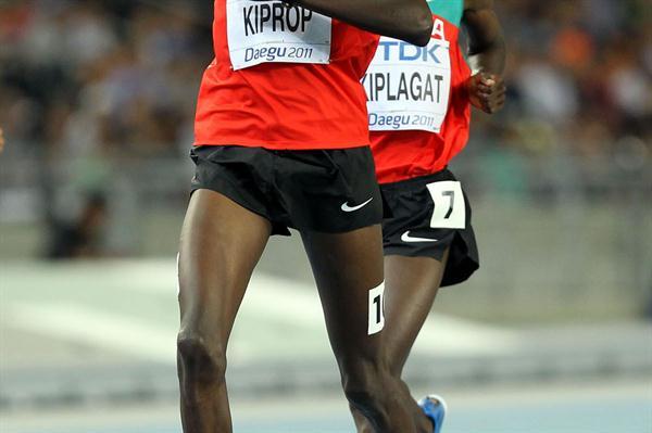Gold medal for Asbel Kiprop of Kenya and silver medal for Silas Kiplagat of Kenya in the men's 1500 metres final  (Getty Images)