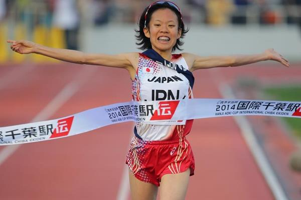 Ayumi Hagiwara anchors Japan to victory at the 2014 Chiba International Ekiden (Agence SHOT)