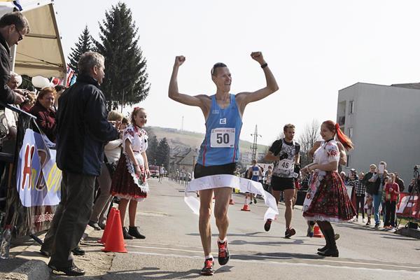 Matej Toth smashes the 50km course record in Dudince (Jan Viazanicka / SITA)