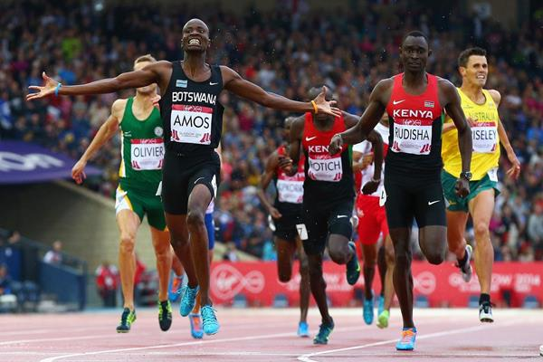 Amos defeats Rudisha over 800m at the Commonwealth Games