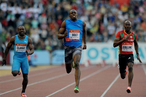 Another victory for Usain Bolt in Ostrava (graf.cz)