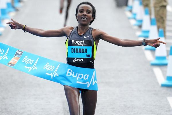 Strong debut and victory for Tirunesh Dibaba at the Great North Run (Mark Shearman)