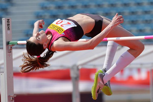Russia's Anna Chicherova, winner of the High Jump (Getty Images)