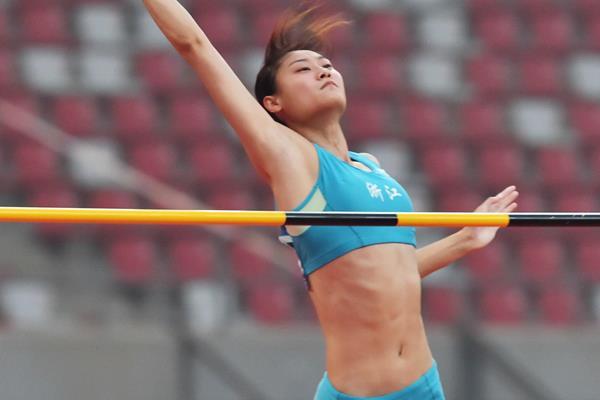 Li Ling at the 2015 Chinese Championships (Li Wen)