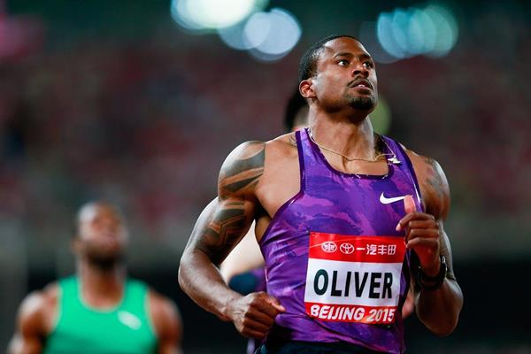 David Oliver at the 2015 IAAF World Challenge meeting in Beijing (Getty Images)