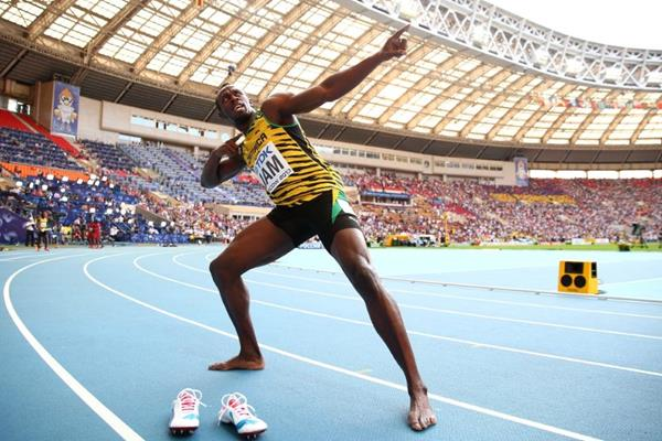 Usain Bolt at the IAAF World Athletics Championships Moscow 2013 (Getty Images)