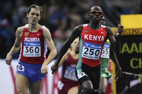 Wilfred Bungei of Kenya on his way to victory in the men's 800m final (Getty Images)
