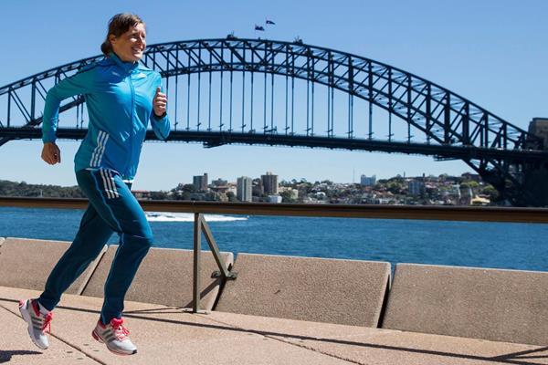 Karolina Jarzynska ahead of the Sydney Marathon (Craig Golding)