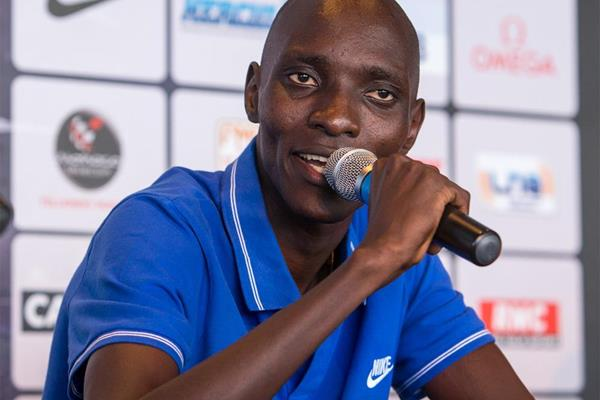 Asbel Kiprop ahead of the IAAF Diamond League meeting in Monaco (Philippe Fitte)