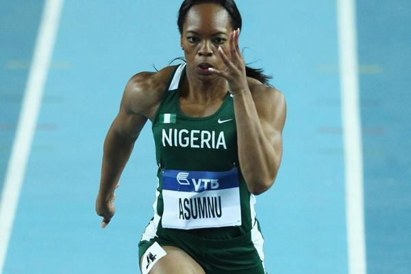 Gloria Asumnu of Nigeria competes in the Women's 60 Metres first round during day two - WIC Istanbul (Getty Images)