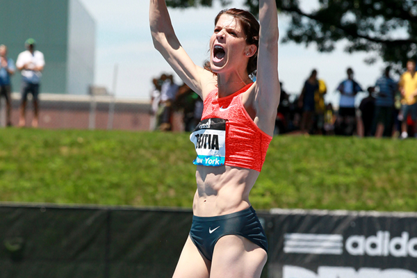 Ruth Beitia, winner of the high jump at the IAAF Diamond League meeting in New York (Victah Sailer)