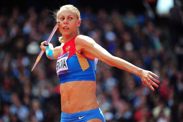 Tatyana Chernova of Russia competes in the Women's Heptathlon Javelin Throw on Day 8 of the London 2012 Olympic Games at Olympic Stadium on August 4, 2012 (Getty Images)