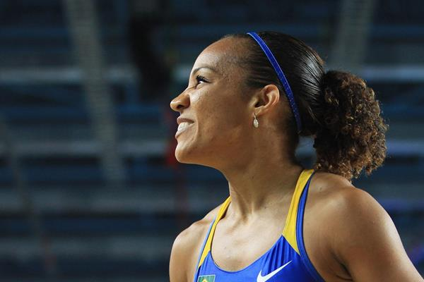 Keila Costa of Brazil looks on as she competes in the Women's Long Jump qualification - WIC Istanbul  (Getty Images)
