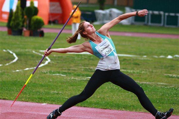 Eliska Klucinova on the way to a 6283 national record and victory in Kladno (Jan Kucharcik)