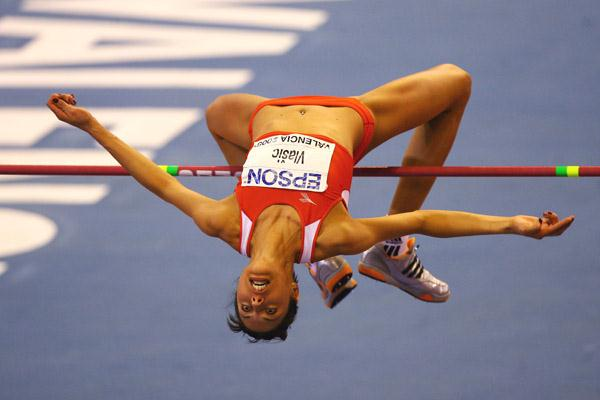 Blanka Vlašic wins the high jump with a 2.03m clearance (Getty Images)