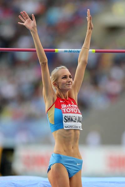 Svetlana Shkolina at the IAAF World Championships Moscow 2013 (Getty Images)