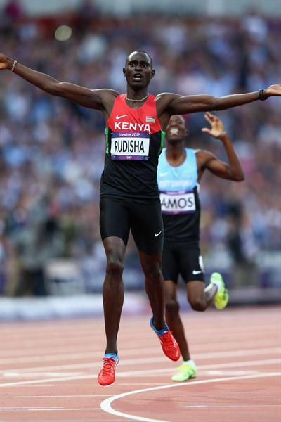 David Lekuta Rudisha's (KEN) glorious new world record of 1.40.91 in the Men's 800m Final on Day 13 of the London 2012 Olympic Games on 9 August 2012 (Getty Images)