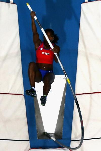 Yarisley Silva in the pole vault at the 2014 IAAF World Indoor Championships in Sopot (Getty Images)
