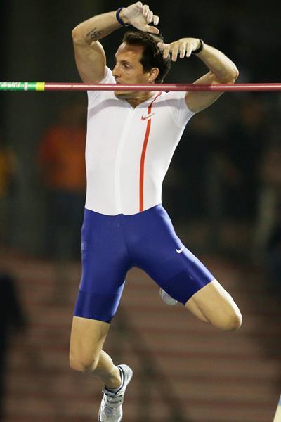 Renaud Lavillenie at the 2014 IAAF Diamond League final in Brussels (Gladys von der Laage)