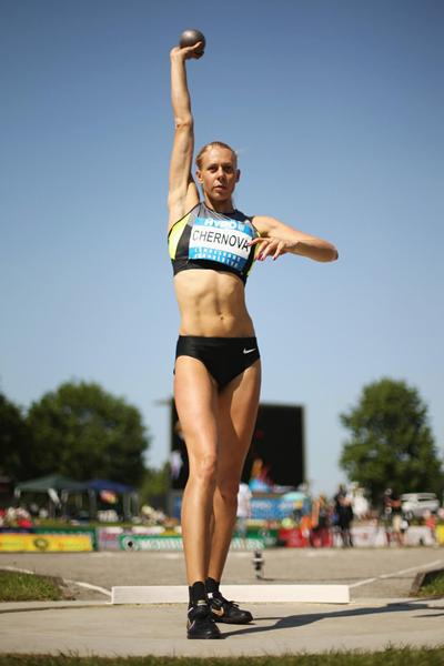 Tatyana Chernova in the Shot at the 2012 Hypo Meeting (Getty Images)