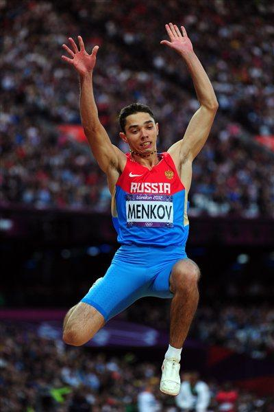 Aleksandr Menkov of Russia competes in the Men's Long Jump Final on Day 8 of the London 2012 Olympic Games at Olympic Stadium on August 4, 2012 (Getty Images)