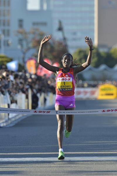 Course record for Lydia Cheromei in Yokohama (Yohei Kamiyama/Agence SHOT)
