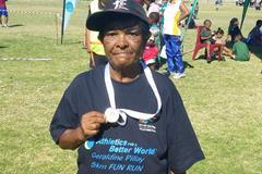 A participant in the Geraldine Pillay 5km Fun Run (Organisers)