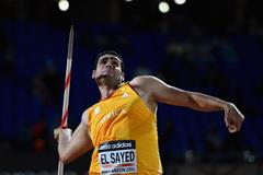 Ihab Abdelrahman El Sayed, winner of the javelin at the IAAF Continental Cup, Marrakech 2014 (Getty Images)