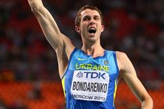 Bohdan Bondarenko in the mens High Jump at the IAAF World Athletics Championships Moscow 2013 (Getty Images)