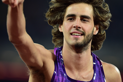 Italian high jumper Gianmarco Tamberi in action at the IAAF Diamond League meeting in London (Getty Images)