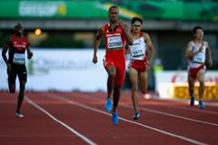 Machel Cedenio on his way to winning the 400m at the IAAF World Junior Championships, Oregon 2014 (Getty Images)
