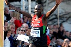 Geoffrey Kipsang Kamworor, winner of the 2014 world half marathon title in Copenhagen (Getty Images)
