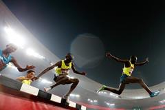 Paul Kipsiele Koech on his way to victory in Beijing (Getty Images)