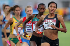 Ajee Wilson in action at the IAAF World Relays (Getty Images)