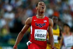 200m winner Trentavis Friday at the IAAF World Junior Championships, Oregon 2014 (Getty Images)