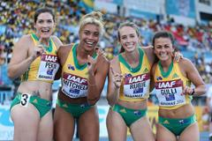 The Australian 4x400m team at the IAAF World Relays, Bahamas 2014 (Getty Images)
