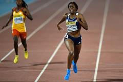 Francena McCorory wins the 400m at the IAAF Continental Cup, Marrakech 2014 (Getty Images)