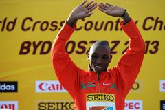 Japhet Kipyegon Korir on the podium at the 40th edition of the IAAF World Cross Country Championships, Bydgoszcz 2013 (Getty Images)